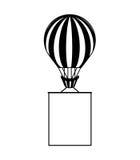 Voyage chaud d'air de ballon illustration libre de droits