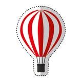 Voyage chaud d'air de ballon Image stock