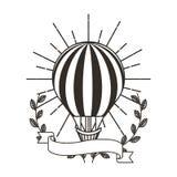 Voyage chaud d'air de ballon Photo libre de droits