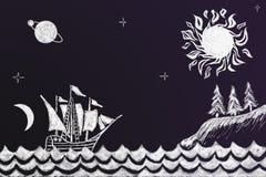 Voyage of Christopher Columbus Royalty Free Stock Image