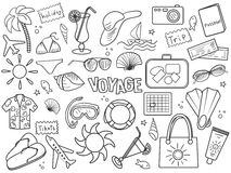 Voyage colorless set vector Stock Photography