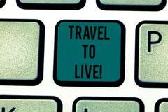 Voyage conceptuel d'apparence d'écriture de main à vivre Le texte de photo d'affaires obtiennent la connaissance et des aventures illustration de vecteur