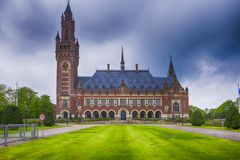 Voyage Consepts Palais de paix en Den Haag Hague Photographie stock