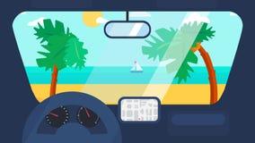 Voyage d'été dans la voiture Photographie stock libre de droits