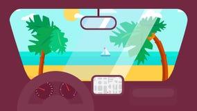 Voyage d'été dans la voiture Image stock