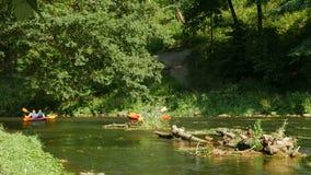 Voyage d'été sur la rivière en le canoë clips vidéos