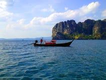 Voyage d'île de bateau Image libre de droits