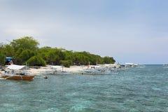 Voyage d'île en île sur l'île de Balicasag, Bohol - Philippines Images stock
