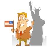 Voyage d'affaires vers l'Amérique Photo libre de droits