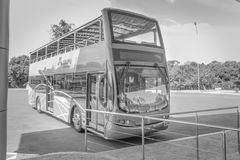 Voyage d'autobus au barrage d'Itaipu au Brésil photos libres de droits