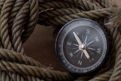 Voyage d'aventure de boussole Image stock