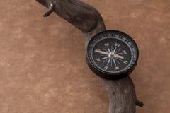 Voyage d'aventure de boussole Photos libres de droits