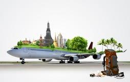 Voyage d'avion, concept Images stock