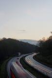 Voyage d'hiver en la voiture Photographie stock libre de droits