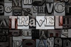 Voyage d'impression typographique Images libres de droits