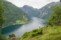 Voyage dans le fjord norvégien Image libre de droits