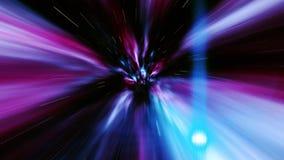 Voyage dans le temps et l'espace par un trou de ver de vortex banque de vidéos