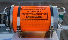 Voyage data recorder stock photo