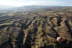 Voyage de ballon d'air chaud dans le cappadocia, dinde photos libres de droits