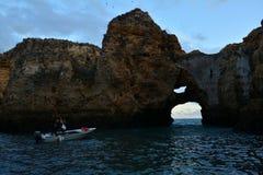 Voyage de bateau à Lagos, Portugal Image libre de droits