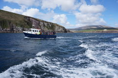 Voyage de bateau de l'Irlande Photos stock