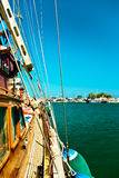 Voyage de bateau de pirate Images stock