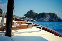 Voyage de bateau de Positano Photographie stock