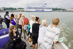 Voyage de bateau de touristes Photos stock
