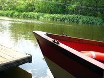 Voyage de bateau - fleuve de Ropotamo Image stock