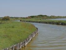 Voyage de bateau de lagunes de Comacchio Photographie stock