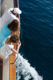 Voyage de bateau sur un voilier Photographie stock