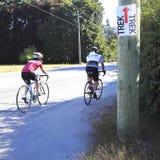 Voyage de bicyclette pendant la vie et le souffle Photos stock
