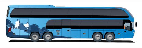 Voyage de bus de support Image stock
