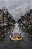 Voyage de canal d'Amsterdam Images stock