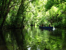 Voyage de canoë Images stock