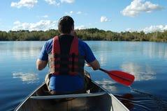 Voyage de canoë Photographie stock