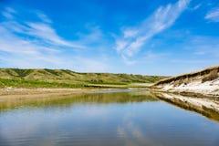 Voyage de canoë sur la rivière Photos libres de droits