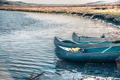 Voyage de canoë sur la rivière Image stock