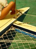 Voyage de catamaran, Îles Maurice Images stock