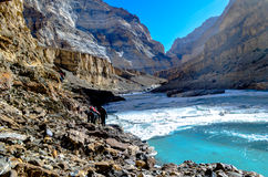 Voyage de Chadar Photographie stock