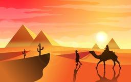 Voyage de désert Photos libres de droits