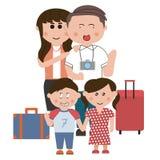 Voyage de famille Photographie stock libre de droits