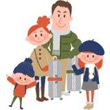 Voyage de famille Photos libres de droits