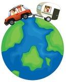 Voyage de famille dans le monde entier illustration de vecteur