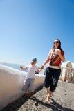 Voyage de famille vers l'Europe images stock