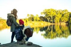 Voyage de femmes et d'amis de touristes Photo libre de droits