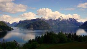 Voyage de fjord Photographie stock