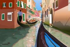 Voyage de gondole Image stock