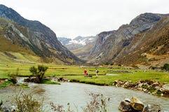 Voyage de Huayhuash, Pérou photographie stock