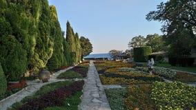 Voyage de jardin botanique de la Bulgarie Balchik images libres de droits